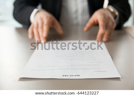 resume review stock images royalty free images vectors