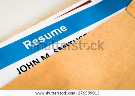 Resume letter background in brown envelop, can use as recruitment business concept