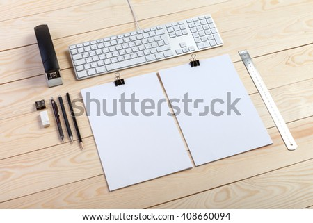 resume mockup background - stock photo