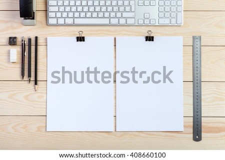 resume mockup background - stock photo