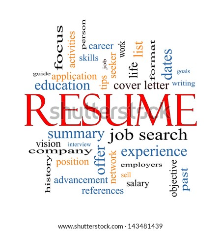 resume word cloud concept with great terms such as career job search interview and - Terms For Resume