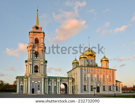 Resurection Cathedral, an orthodox church in Tula, Russia  - stock photo