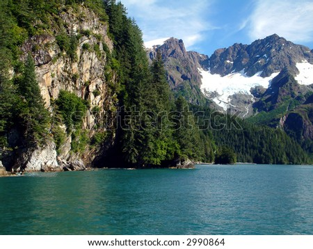 Resurrection Bay, Alaska - stock photo