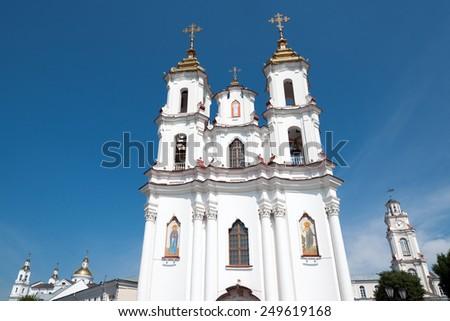 Resurrection (Market) Church in downtown Vitebsk - stock photo