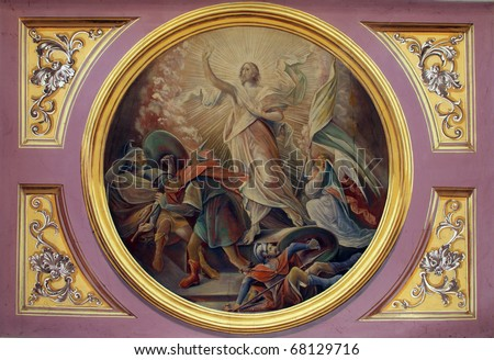 Resurrection of Jesus - stock photo