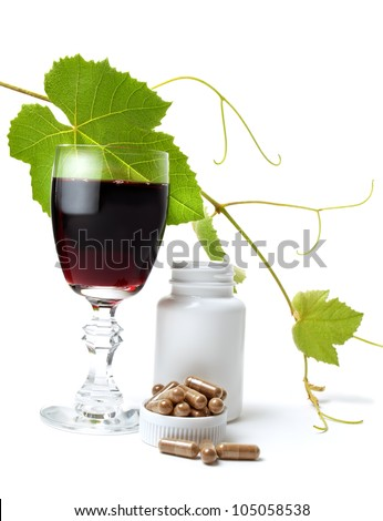 Resveratrol is a powerful antioxidant derived from grapes. - stock photo