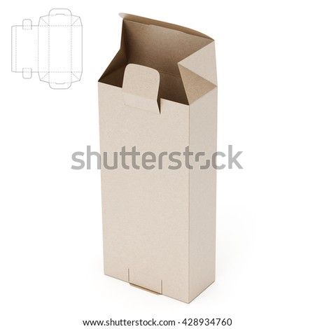 Retail box blueprint template 3 d render stock illustration retail box with blueprint template 3d render malvernweather Gallery
