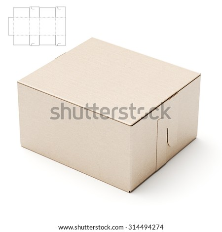 Retail box with Die Line Blueprint
