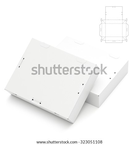 Retail Box with Die Line Template