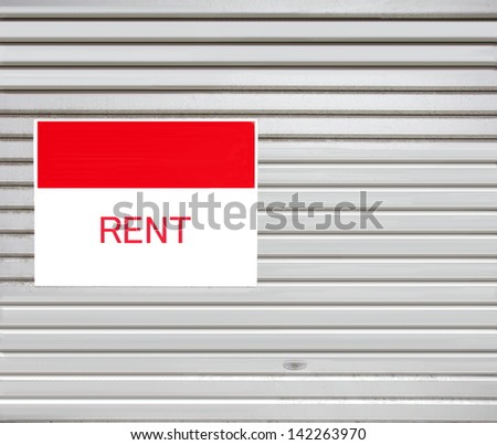 Retail Building with For Lease Real Estate - stock photo