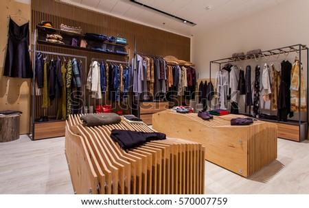 Retail Clothes Shop Design Interior Stock Photo Royalty Free
