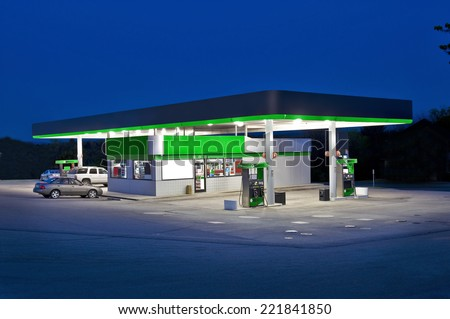Retail Convenience Store And Gas Station - stock photo
