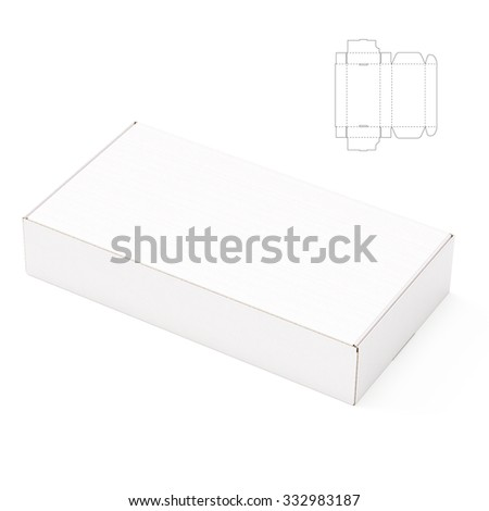 Retail Empty Box with Die Line Template