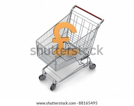 Retail foreign exchange,buying pound - stock photo