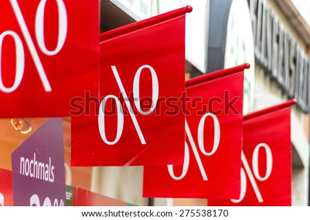retail, price reduction percentage, symbolfoto for cheap prices, marketing and competition - stock photo