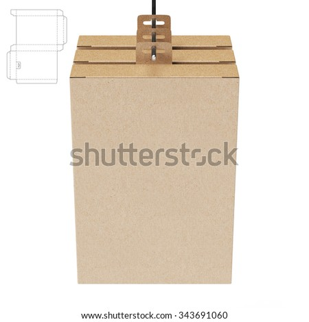 Retail Self Hanging Box with Die Cut Template