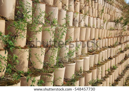 dry stone retaining wall drainage options drain mat stock photo