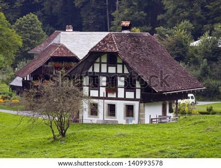 Retired farmer's house, Detligen BE, 18th century  - stock photo