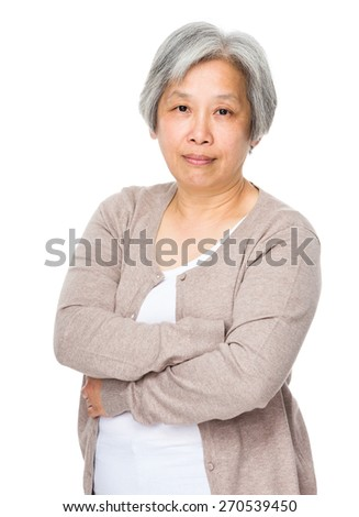 Retired woman - stock photo