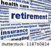 Retirement conceptual message background. Pension poster design - stock photo