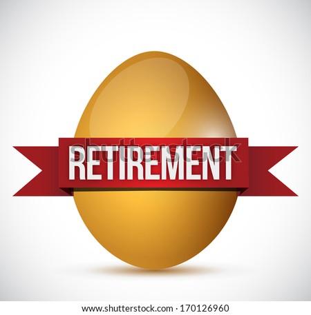 retirement egg illustration design over a white background - stock photo