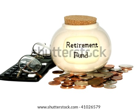 Retirement fund jar - stock photo