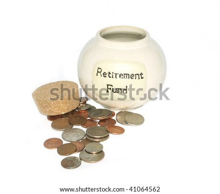 Retirement Fund Jar with coins
