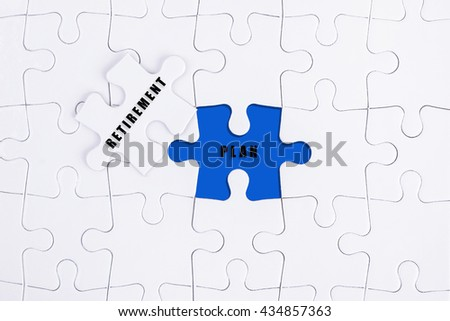 RETIREMENT & PLAN on missing puzzle
