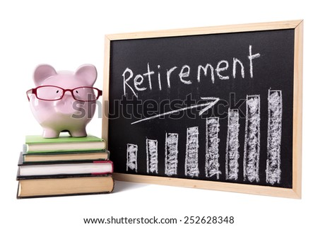 Retirement plan, pension fund growth concept. - stock photo