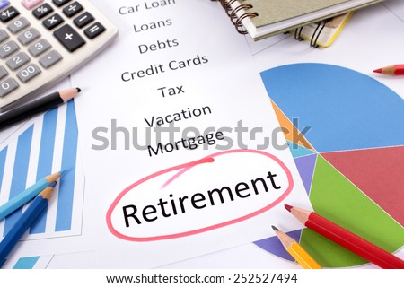 Retirement plan : pension fund saving concept. - stock photo