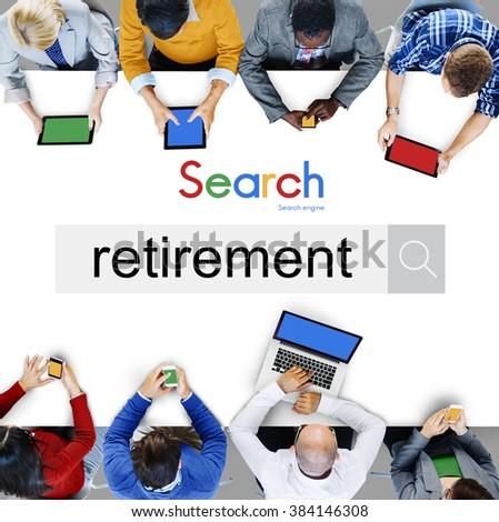 Retirement Plan Wealth Worth Security Management Concept - stock photo