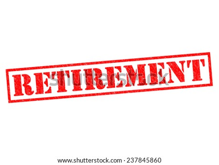 RETIREMENT red Rubber Stamp over a white background. - stock photo
