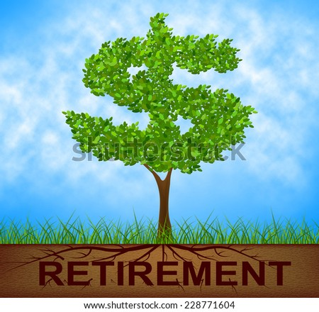 Retirement Tree Representing Finish Working And Reforestation - stock photo