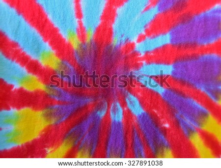 retro abstract tie-dye design on fabric