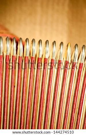 Retro accordion part - stock photo