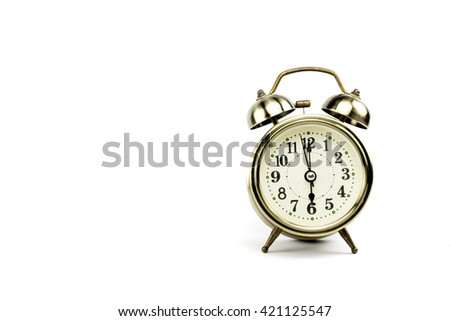 Retro alarm, Either the clock start at 6 am or 6 pm, depends on what it fits for ur concept. free space for your text here