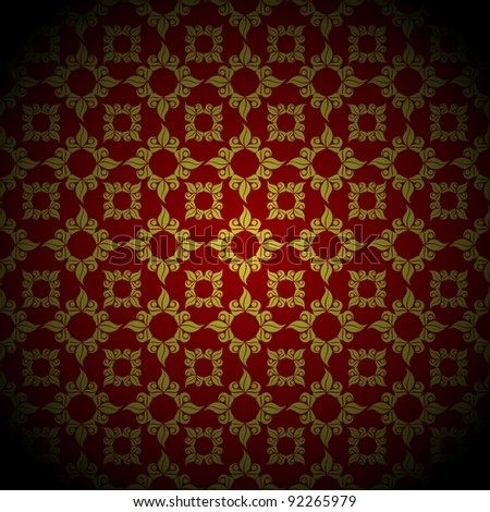 Retro Antique pattern background with shadowed dark edges - stock photo
