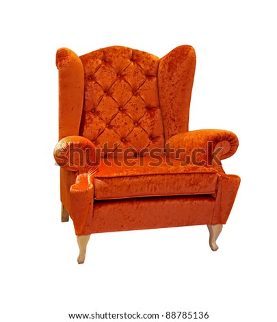 Retro armchair isolated with clipping path included