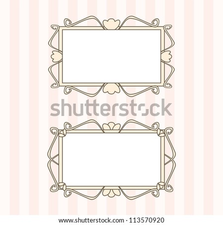 Retro art deco frames with empty space to put picture or text - stock photo