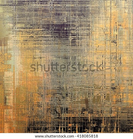 Retro background, antique texture for abstract vintage design composition. With different color patterns: yellow (beige); brown; gray; black - stock photo