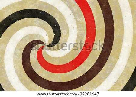 Retro background of swirling stripes - stock photo
