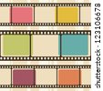 Retro background with film strips. Raster version - stock