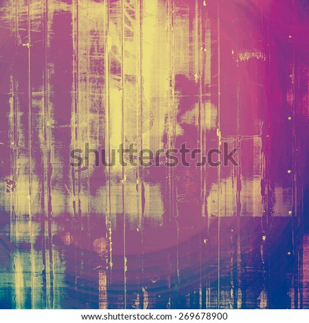 Retro background with grunge texture. With different color patterns: purple (violet); blue; yellow (beige); pink - stock photo