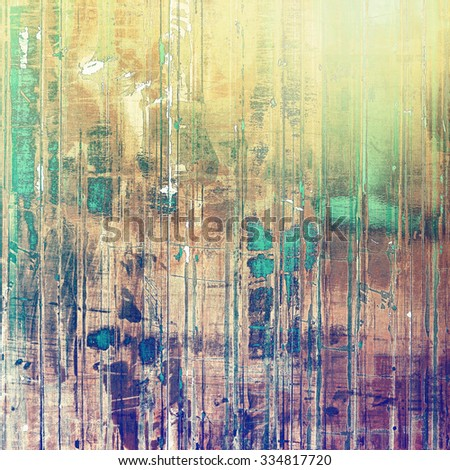Retro background with grunge texture. With different color patterns: yellow (beige); brown; green; purple (violet) - stock photo