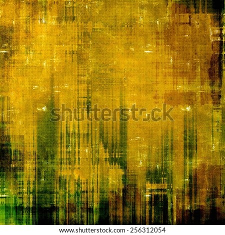 Retro background with old grunge texture. With different color patterns: yellow (beige); brown; green - stock photo