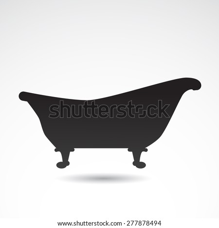 Retro bath icon isolated on white background.