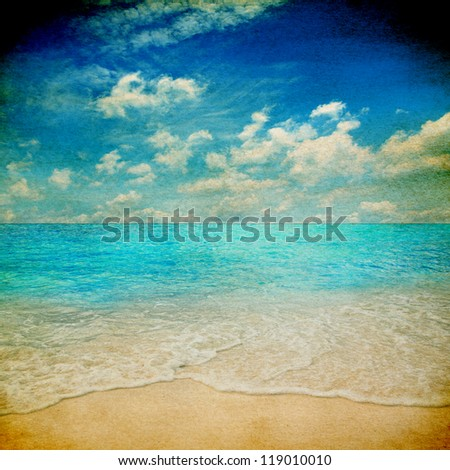 Retro beach grunge style - stock photo