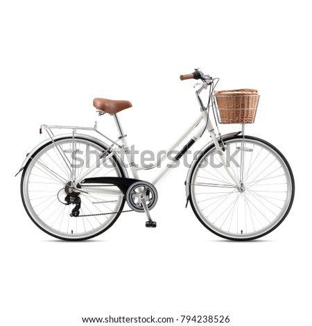 Retro bicycle isolated on white background retro bicycle isolated on white background vintage bicycle white beach cruiser bicycle lightweight voltagebd Image collections