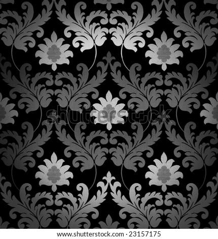 Retro black and white background - stock photo