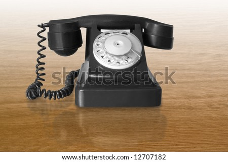 retro black telephone